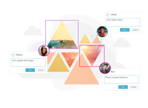 PicMonkey users can now create shared workspaces and invite others to co-design simultaneously, boosting productivity and design quality. (Graphic: Business Wire)