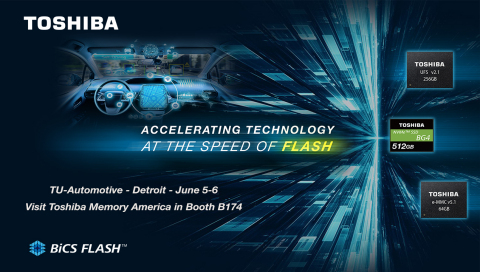 Toshiba Memory continually reinforces its lineup of embedded flash memory solutions for automotive a ...