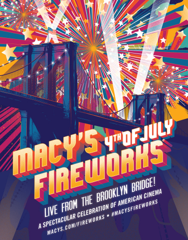 Lights, Camera, Fireworks! The 43rd Annual Macy's 4th of July Fireworks, the nation's largest Indepe ...