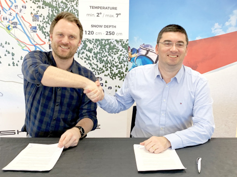 Skitude Chariman Yngve Tvedt and Skitude CEO and Co-founder Marc Bigas (Photo: Skitude)