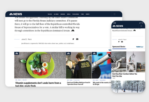 Taboola Expands Strategic Relationship with NBC News, Launching Taboola Feed (Photo: Business Wire)