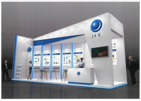 JFE化工的展台(印象图) (图示:美国商业资讯)
