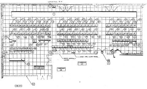 a diagram of voice systems equipment at nasa's mission control center in  houston contained in a