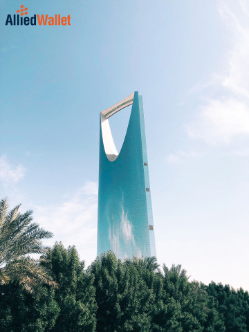 Allied Wallet is now compatible with several preferred payment options in Saudi Arabia. (Pictured: Kingdom Centre in Riyadh, Saudi Arabia)