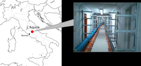 Figure 2: L'Aquila city and the tunnel where MCF cable was installed (Graphic: Business Wire)