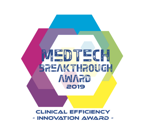 "The Drug Shortage App from LogicStream Health wins the ""Clinical Efficiency Innovation Award"" from MedTech Breakthrough (Graphic: Business Wire)"