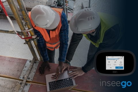 MiFi 8000 by Inseego - Secure, reliable connections at remote worksites. (Photo: Business Wire)