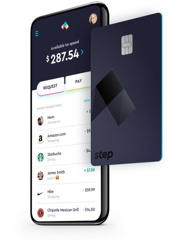 The Step card is linked to the Step mobile app which enables users to send and receive money instantly, shop online or in-store as well as leverage digital wallet platforms such as Apple Pay and Google Pay. (Photo: Business Wire)