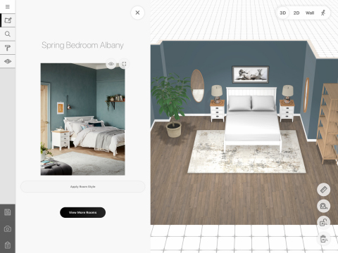 John Lewis customers will use the Marxent-designed 3D Room Designer with Photo to Floorplan iPad application to select products from inspirational photos and drop them into a designed room that matches their real world space. (Photo: Business Wire)