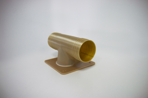 Final, flight-approved, 3D printed ducting for air conditioners. 3D printed in ULTEM™ 9085 resin on  ...