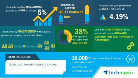 Technavio has published a new market research report on the global egg powder market from 2019-2023. (Graphic: Business Wire)