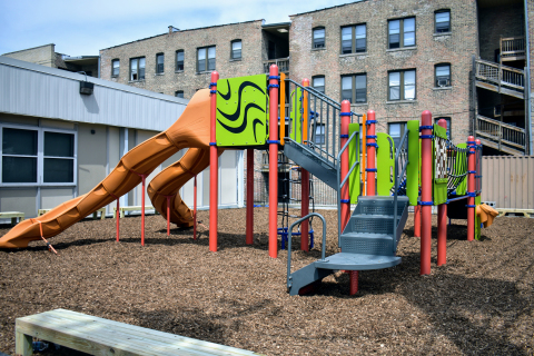 After—The finished playground designed by local children (Photo: Business Wire)