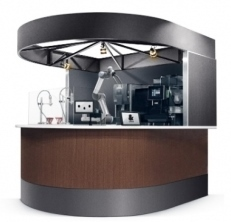 &robot café system (image) This is a robot café package developed by the collaboration of QBIT Robotics and coffee company UCC group. (Photo: Business Wire)