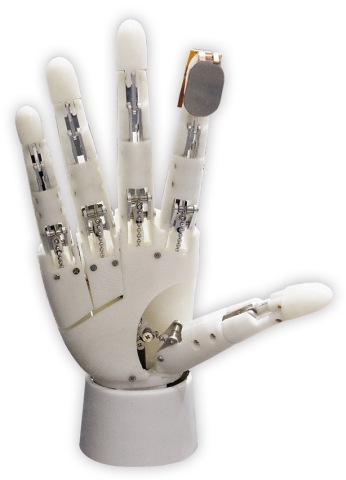 """""""Tactile hand"""" using e-Rubber sensors (image)(Photo: Business Wire)"""