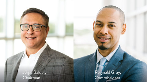 Jorge Baldor elected as chairman and Reginald Gray appointed as commissioner. (Photo: Business Wire)