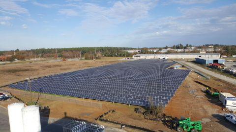 New solar panels at Ingevity's Waynesboro, Georgia, site. (Photo Business Wire)