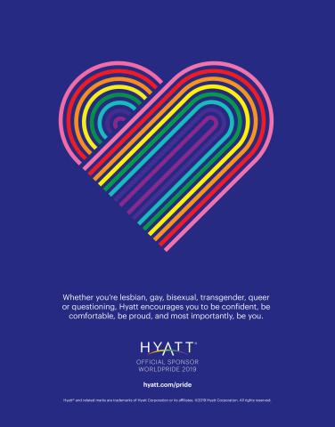Hyatt, Official Platinum Sponsor of WorldPride 2019 (Graphic: Business Wire)