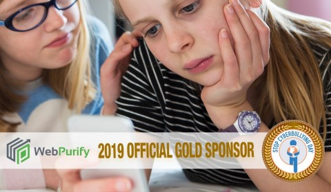WebPurify Works Behind the Scenes to Stop Cyberbullying and the Spread of Harmful Content and is Proud to be Gold Sponsors of Stop Cyberbullying Day (Graphic: Business Wire)