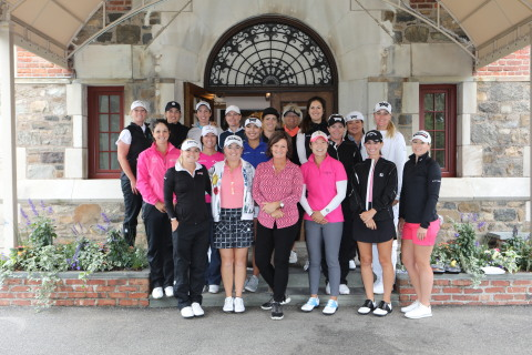 Val Skinner was joined by 18 LPGA pros today in New Jersey to raise another $500,000 for breast cancer initiatives, bringing her 20-year total to nearly $13 million raised. Photo by RobertMitchellImage.net