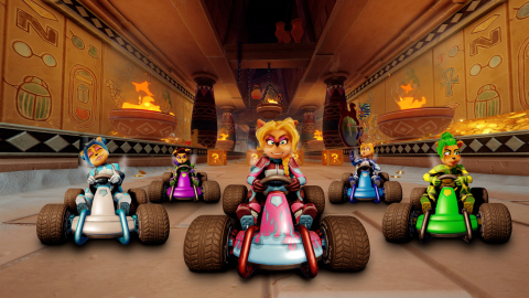 The Nitro Squad, formerly known as the Trophy Girls are back and fiercer than ever, as raceable characters for the first time in Crash Team Racing history! Crash Team Racing Nitro-Fueled launches June 21, 2019, and the Nitro Squad racers can be unlocked in the Grand Prix starting July 3, 2019. (Graphic: Business Wire)