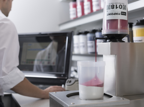 Protolabs now offers customers on site custom color matching capabilities through its adoption of PolyOne's and 3M's revolutionary PINPOINT™ Express Color and Dosing System. This capability significantly reduces the time it takes to mold short-run plastic parts in precise colors. (Photo: Business Wire)