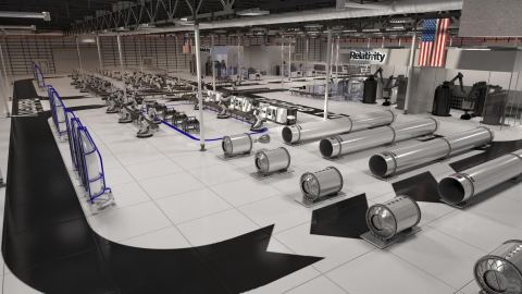 Rendering of Relativity's autonomous rocket factory at NASA Stennis Space Center in Mississippi (Graphic: Business Wire)
