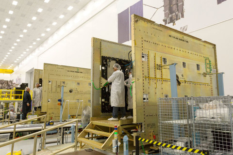 Harris Corporation has delivered the seventh navigation payload for installation on the Lockheed Martin-built GPS III satellite. (Photo courtesy: Lockheed Martin)