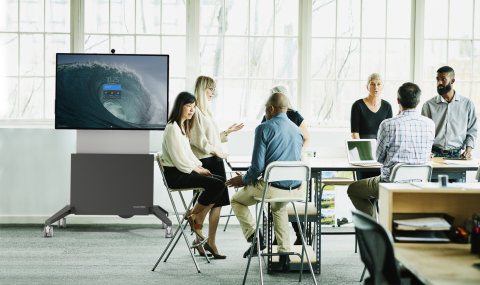 Salamander Surface Hub S2 Electric Lift, Mobile Stand (Photo: Business Wire)