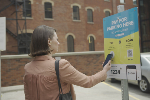 HonkTap - NFC-enabled parking application (Photo: Business Wire)