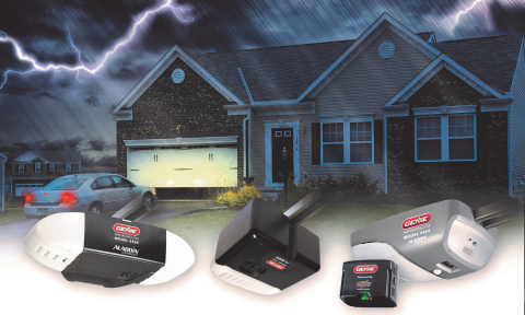 The Genie Company announces the addition of Battery Backup (BBU) capability to its popular 2028 and 2128 garage door opener series. (Photo: Business Wire)