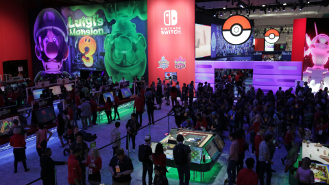 In this photo provided by Nintendo of America, Nintendo showed off many upcoming games at its booth during the E3 video game conference on June 11, 2019, in Los Angeles. The booth was highlighted by massive interactive spaces for Luigi's Mansion 3 and Pokémon Sword and Pokémon Shield for Nintendo Switch. Pokémon Sword and Pokémon Shield launch exclusively for Nintendo Switch on Nov. 15, with Luigi's Mansion 3 coming to the system in 2019. (Photo: Business Wire)