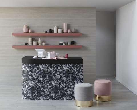 Each of the new patterns and solids in Wilsonart's 2019 Commercial Laminate and Traceless™ Laminate Collections represent surface materials that suit the trends of mindful materials, crafted artisan and neutral noir. (Photo: Wilsonart)