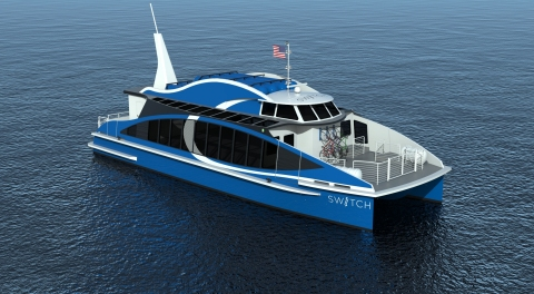 Zero-emission maritime vessel powered by hydrogen fuel cell (Photo: Business Wire)