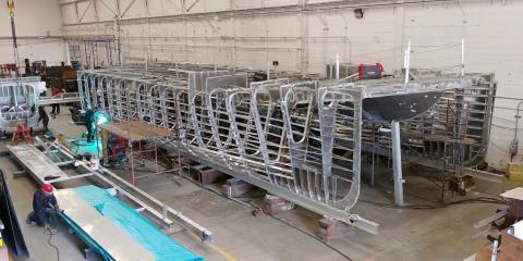 Zero-emission vessel under construction (Photo: Business Wire)