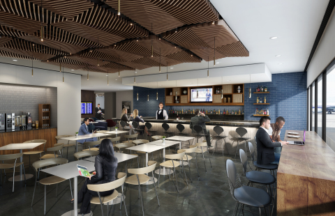 Rendering of the future Centurion Lounge at Phoenix Sky Harbor International Airport (Photo: Business Wire)