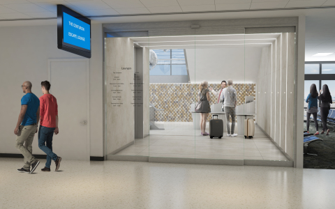 Rendering of the future Escape Lounge at Phoenix Sky Harbor International Airport (Photo: Business Wire)