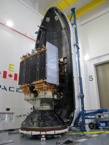 Three Earth observation satellites built by Maxar's MDA will work together to bring solutions to key challenges for Canadians (Photo: Business Wire)