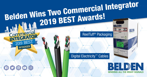 Belden Wins Two Commercial Integrator 2019 BEST Awards. (Photo: Business Wire)