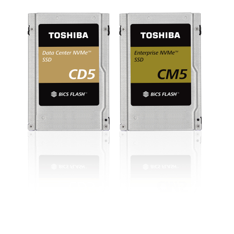 The CD5 and CM5 Series of NVMe-based SSDs from Toshiba deliver exceptionally high performance and low latency. (Photo: Business Wire)