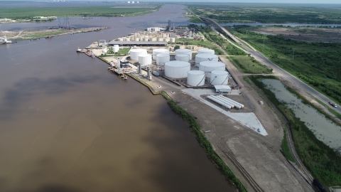 Howard Energy Partners' recently expanded terminal facility in Port Arthur, Texas (Photo: Business W ...