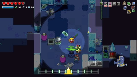 In the Cadence of Hyrule: Crypt of the NecroDancer Featuring the Legend of Zelda game, each move you ...
