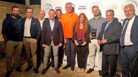 The Eurolife & FRISS Teams receiving the BITE Award (Photo: Business Wire)