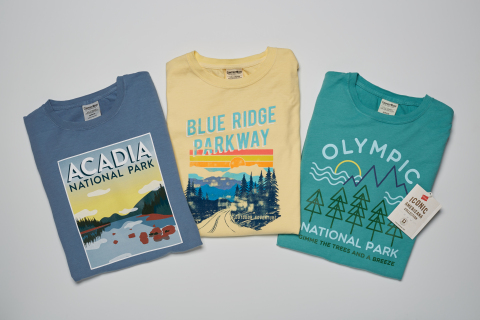 Supporting our national parks is as easy as wearing a comfortable new T-shirt this summer. HanesBrands has introduced a National Park Foundation T-shirt promotion in select Walmart stores near nine of our country's most beautiful and recognized landmarks. T-shirt sales will generate funds for the NPF, the official nonprofit of the National Park Service. (Photo: Business Wire)