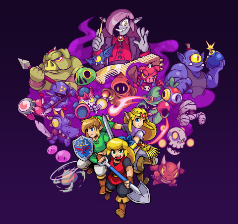 Cadence of Hyrule: Crypt of the NecroDancer Featuring The Legend of Zelda, the latest title from Brace Yourself Games, combines the move-to-the-beat gameplay of the acclaimed Crypt of the NecroDancer game with the iconic characters, items and locations from the Legend of Zelda series. (Graphic: Business Wire)