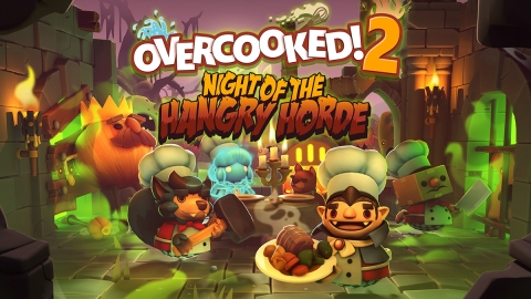 Overcooked! 2: Night of the Hangry Horde from Team17 Digital Ltd. and Ghost Town Games sees players face the most terrifying threat to the Onion Kingdom yet, the unbread, and this time they've brought friends! This brand new DLC introduces an entirely new horde mode in which players must use all their cooking know-how to repel waves of ravenous undead ingredients. (Graphic: Business Wire)