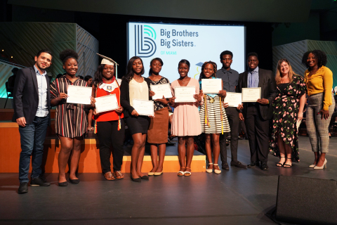 MONAT scholarship recipients at BBBS ceremony (Photo: Business Wire)