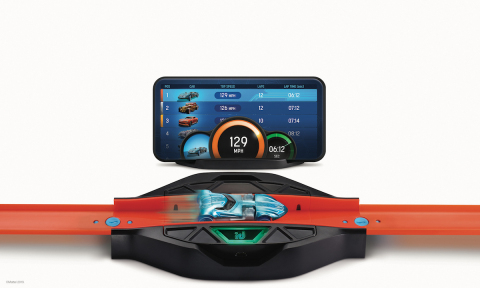 Hot Wheels Race Portal™ scans your Hot Wheels id vehicles into the app, tracks speed and counts laps via infrared sensors, and easily connects with your classic Hot Wheels track. (Photo: Business Wire)