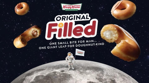 Landing June 17, NEW Original Filled Doughnuts will be permanently available in the U.S., initially in two flavors – Classic Kreme™ and Chocolate Kreme™. Try one for FREE June 22! (Photo: Business Wire)