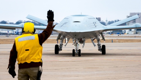 The MQ-25 is the U.S. Navy's first operational carrier-based unmanned aircraft and is designed to provide a much-needed refueling capability. (Photo: BAE Systems)