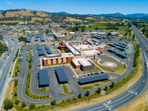 Sutter Santa Rosa Regional Hospital's 1.6 megawatt solar energy generation installation (Photo: Busi ...